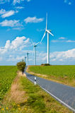 Modern windmills Stock Photos