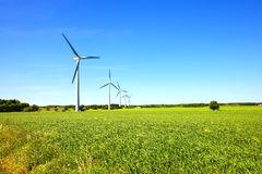 Modern windmills in Denmark Royalty Free Stock Photos