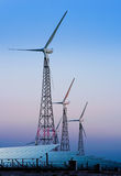 Modern windmills and solar panels Royalty Free Stock Photos