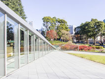 Modern window and glass wall perspective architecture Royalty Free Stock Photos