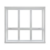 Modern window isolated on white background royalty free stock photos