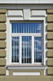 Modern window in restored old home Royalty Free Stock Photos