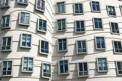 Modern Windows. Modern building called the Dancing House (or Fred and Ginger) in Prague, Czech Republic Stock Images
