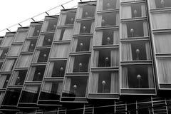 Modern windows black and white Royalty Free Stock Image