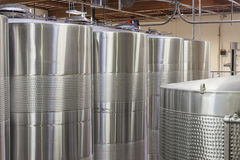Wine barrels in Storehouse Royalty Free Stock Photo