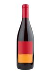 Modern Wine Bottle. Bottle of wine with a modern looking label isolated on white with clipping path Stock Photography