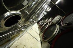 Modern wine cellar stock photos