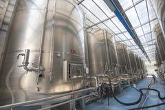 Modern wine factory Stock Photos