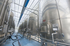 Modern wine factory Stock Images