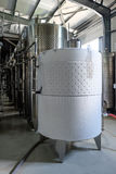 Modern wine fermentation tank cooled Royalty Free Stock Photo