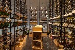 Modern Wine Shop at Bangkok Marriott.Hotel Sukhumvit. Royalty Free Stock Photography