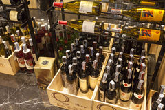 Modern Wine Shop at Bangkok Marriott.Hotel Sukhumvit. Stock Photo