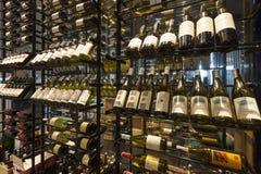 Modern Wine Shop at Bangkok Marriott.Hotel Sukhumvit. Royalty Free Stock Image