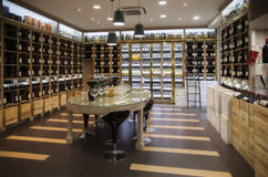 Modern wine shoppar Royaltyfria Foton