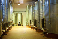 Modern winery fermenting facility Stock Photography