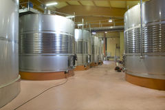 Modern winery fermenting process Stock Photography