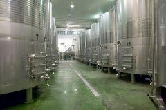 Modern winery fermenting process Stock Image