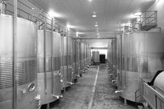Modern winery fermenting process Stock Images