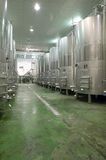 Modern winery fermenting process Royalty Free Stock Photo