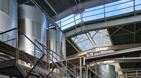 Modern winery on the inside Royalty Free Stock Photo