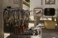 Modern winery Outdoors equipment Stock Images