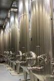Modern Winery Steel Tanks Royalty Free Stock Photo
