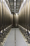 Modern Winery Steel Tanks Royalty Free Stock Photo