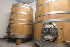 Modern Winery tanks Royalty Free Stock Images