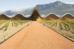 The modern winery of Ysios in Laguardia, Basque Country, Spain Royalty Free Stock Photo