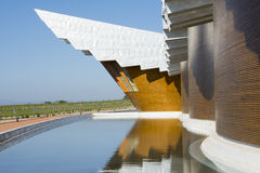 The modern winery of Ysios in Laguardia, Basque Country, Spain Stock Photo