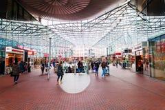 Modern winkelcentrum Spazio in Zoetermeer, Nederland Royalty-vrije Stock Foto's