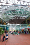 Modern winkelcentrum Spazio in Zoetermeer, Nederland Stock Afbeelding