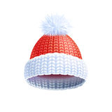 Modern Winter Knitted Hat Flat Pictogram Stock Images