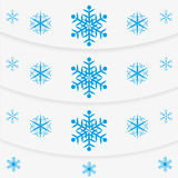 Modern winter message snowflakes set. Modern winter message blue snowflakes set Stock Photography