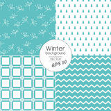 Modern winter patterns in Blue. Eps 10 vector Stock Images