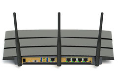 Modern wireless internet router Stock Photos