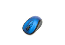Modern wireless laser mouse. On white stock photography