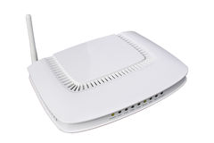 Modern wireless router. From my objects series Royalty Free Stock Image