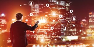 Modern wireless technologies and networking as tool for effective business Stock Images