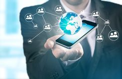 Modern wireless technology and social media Stock Images