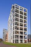 Modern wit flatgebouw, Turnhout, België Stock Foto