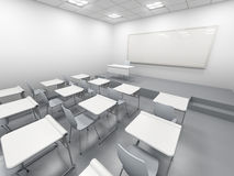 Modern wit klaslokaal Royalty-vrije Stock Fotografie