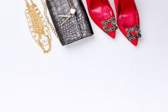 Modern woman accessories. Stock Images