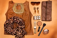 Modern woman accessories. Royalty Free Stock Photography