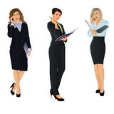 Modern woman. Modern business woman with the phone. vector illustration Stock Photos