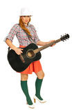 Modern woman with guitar stock photography