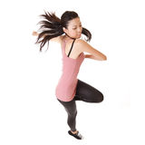 Modern woman jump Stock Photo