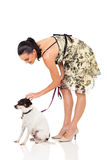 Woman pet Stock Image