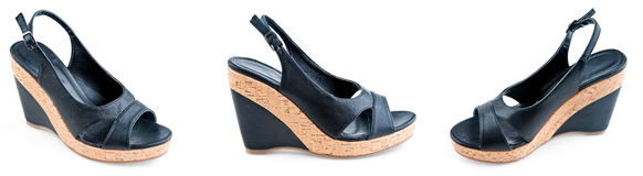 Modern woman shoes Royalty Free Stock Image