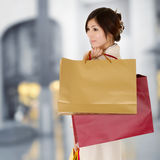 Modern woman shopping Stock Image